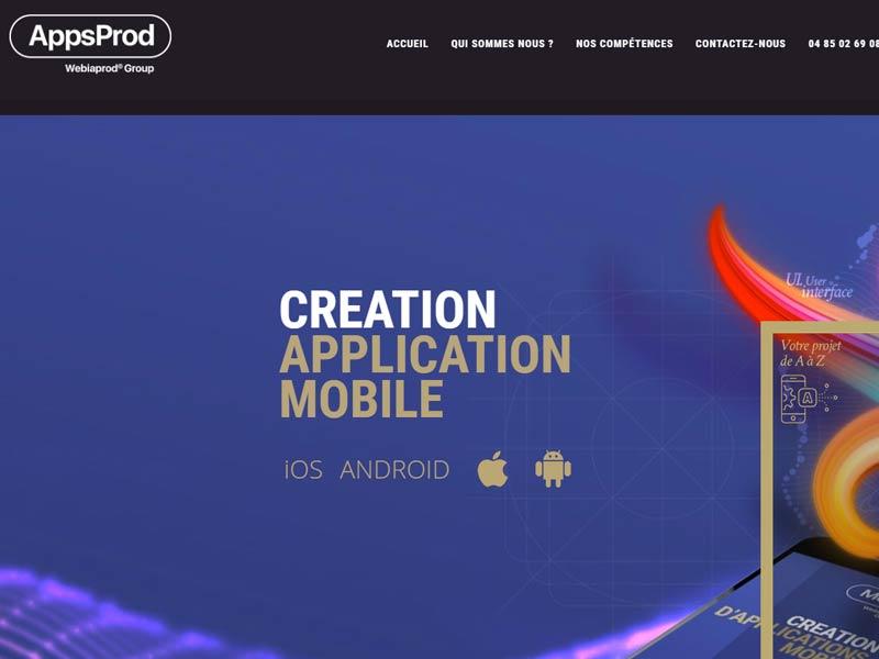 Création de votre application mobile par Webiaprod Grenoble