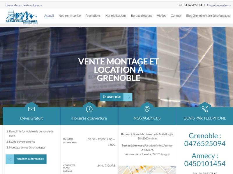 Location échafaudage Grenoble